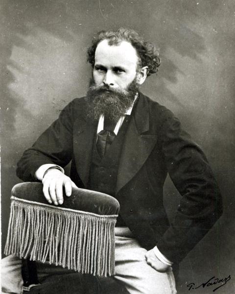 Portrait of Edouard Manet (1832-83) (b/w - Paul Nadar as ...