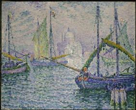 Venice with sailing boats (Le Redempteur)