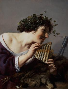 Moreelse, Paulus : Pan Playing his Pipes