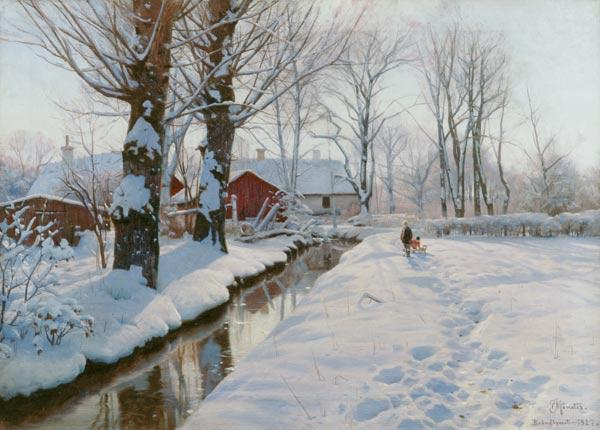 Winter landscape at Broendbyvester1927