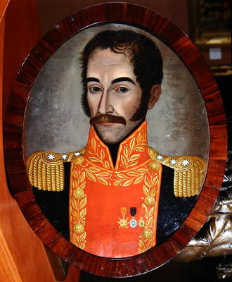 Portrait Of Simon Bolivar C 1820 Oil O Pedro Jose De