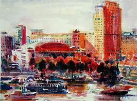 The South Bank, 2002 (w/c on paper)