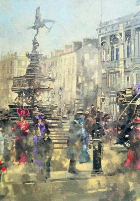 Piccadilly Circus c.1890, 1992 (oil on canvas)
