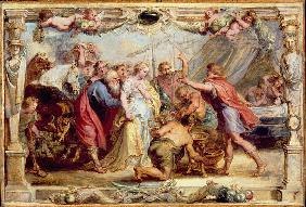 Briseis Given back to Achilles, 1630/1631