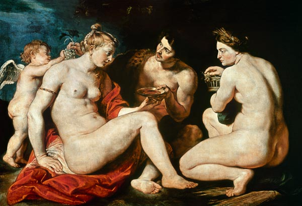 bacchant and bacchante with a cupid dating