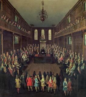 The House of Commons in Session