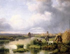 Hunting in the bog
