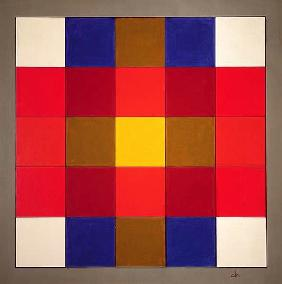 Subliminal Yellow Cross, 1986 (acrylic on wood)