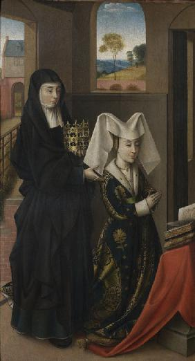 Isabel of Portugal with Saint Elizabeth