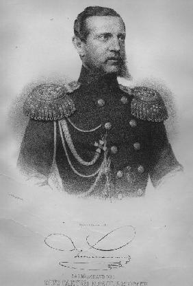 Portrait of Grand Duke Konstantin Nikolaevich of Russia (1827-1892), viceroy of Poland, admiral of t