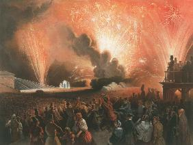 Coronation Fireworks in Moscow