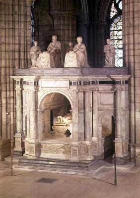 The tomb of Francis I (1494-1547) and his wife Claude of France, commissioned by Henri II