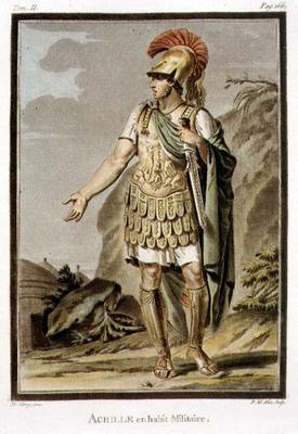 Achilles in Armour, costume for 'Iphigenia in Aulis' by Jean Racine, from Volume II of 'Research on