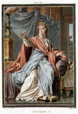 Esther, costume for 'Esther' by Jean Racine, from Volume I of 'Research on the Costumes and Theatre