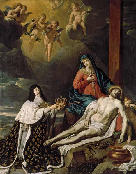 Louis XIII s oath / Champaigne painting