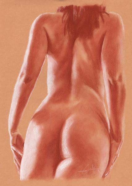 Femme Nue De Dos femme nu de dos mains sur fesses - philippe flohic as art print or