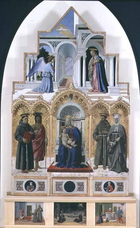 Altarpiece: Annunciation; Madonna and Ch - Piero della ...