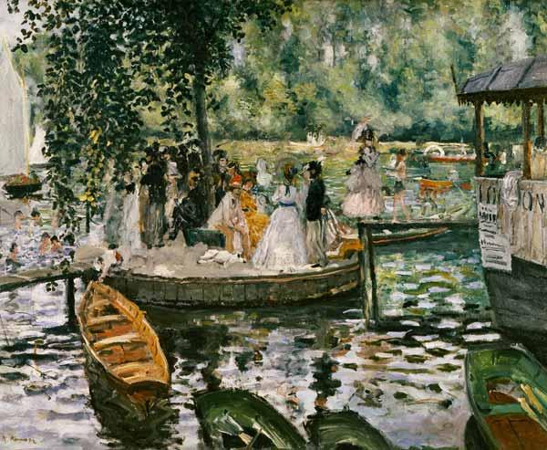 La Grenouillere - Pierre-Auguste Renoir as art print or ...