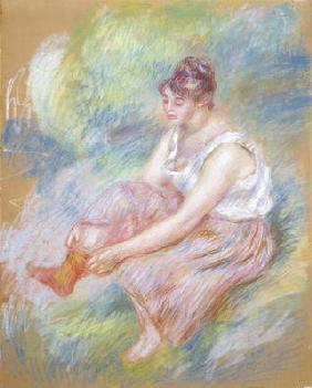 After the Bath, c.1890 (pastel on paper)