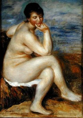 Bather Seated on a Rock