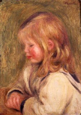 The Child in a White Shirt Reading