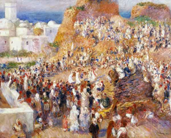 Renoir, Auguste 1841-1919. ''La Mosquee, fete arabe'' (The mosque, Arab festival), 1881. Oil on canv