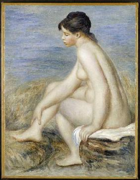 Young woman after the bath