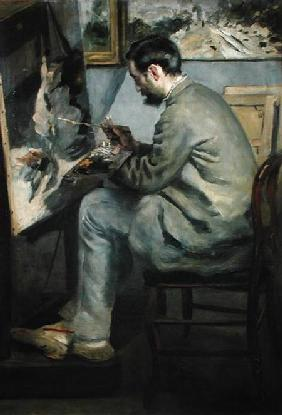 Frederick Bazille at his Easel