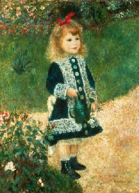 A Little Girl with Watering Can 1876