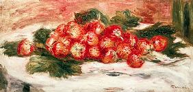 Strawberries on a White Tablecloth