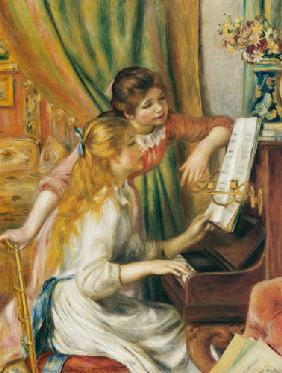 Two girls at the piano 1893