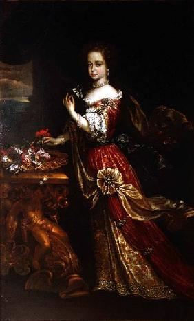 Portrait of a lady, possibly Henrietta Anne, Duchess of Orleans (1644-70), daughter of Charles I