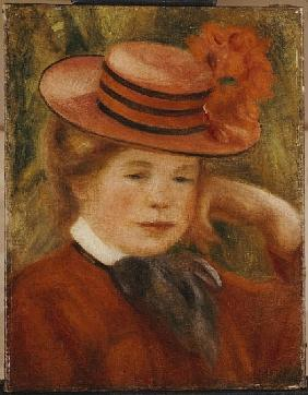 A Young Girl with a Red Hat