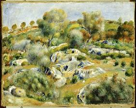 Brittany Landscape with Trees and Rocks