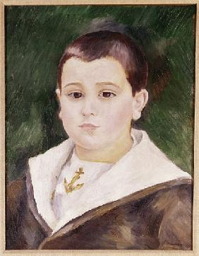Head of a Young Boy in a Sailor Suit (Pierre Goujon) (oil on canavs)