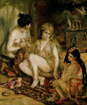 Interior of a Harem in Montmartre, Parisian women dressed as Algerians
