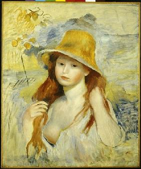 Young Girl with a Straw Hat