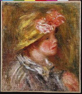 Young Woman in a Flowery Hat (Portrait of Andree) c.1917