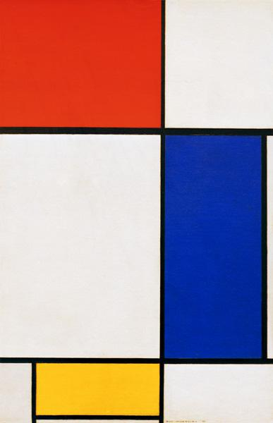 Composition w. red, yellow, blue