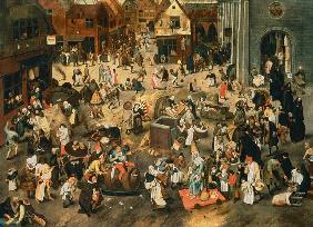 Quarrel of the carnival with the period of fasting