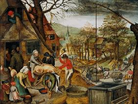 Brueghel the Younger, Pieter : Allegory of Autumn (panel)