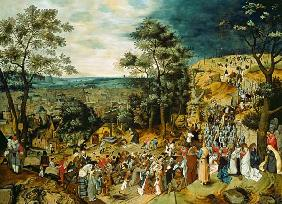 Brueghel the Younger, Pieter : Christ on the Road to Calv...