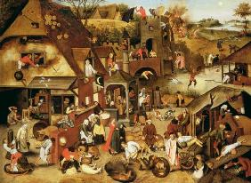 Brueghel the Younger, Pieter : The Flemish Proverbs