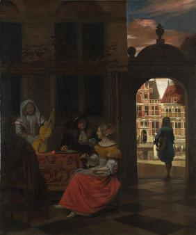 A Musical Party in a Courtyard