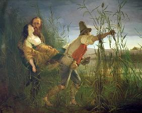Garibaldi carrying his dying Anita through the swamps of Comacchio