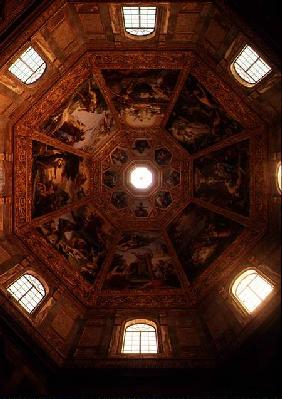Interior view of the cupola designed by Matteo Nigetti (1560-1649) in 1644 with panels depicting sce