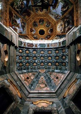 View of the interior showing the coffered vault above the altar designed by Matteo Nigetti (1560-164