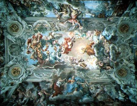 Glorification of the Reign of Pope Urban - Pietro da Cortona