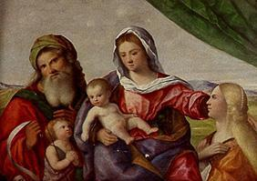 Madonna with the child, the Johannesknaben and the hll.Katharina and Zacharias.