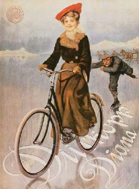Ad for the ladies' bicycle Diana, company D�rkopp